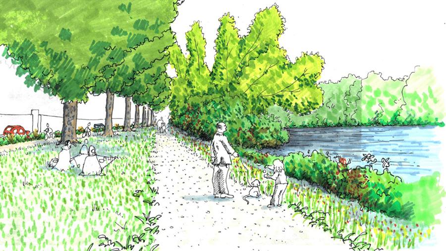 CHEMIN DES BŒUFS – aménagement de la promenade sur les rives de l'Isère