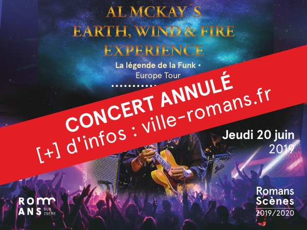 Annulé - Al McKay's Earth, Wind and Fire Experience… à Romans !
