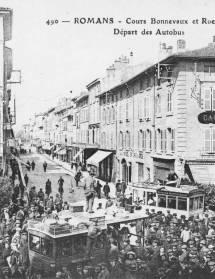 Les commerces de Romans en 1900