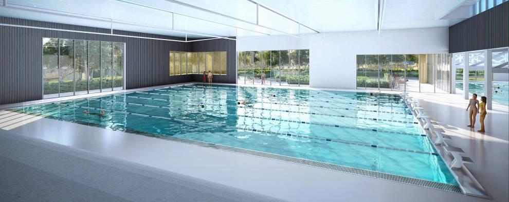 Nouvelle piscine,  les travaux se poursuivent