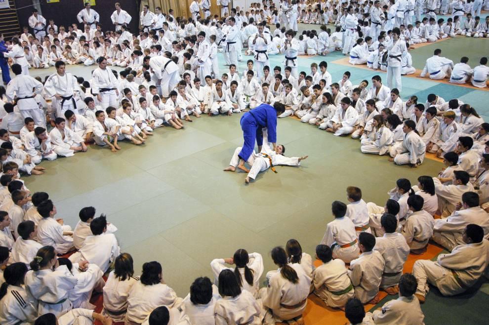 Des champions de l'équipe de France de judo à Romans