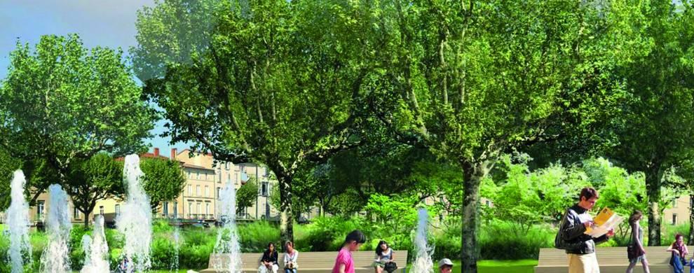 Un jardin de cœur de ville
